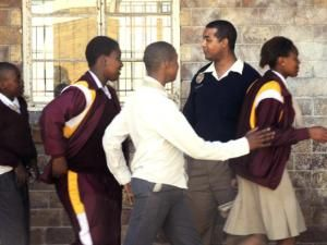 Police in Cape Town schools