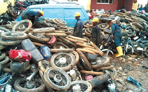 Lagos crushes 3,000 Okada motorbikes