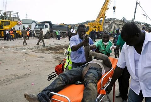 Large department store collapses in Accra