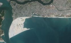 Satellite photo of Eko Atlantic in Lagos