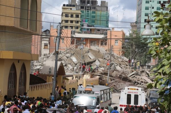 Building collapses in Dar es Salaam