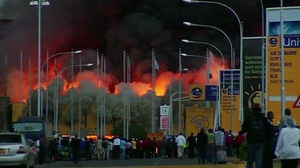 Kenyatta international airport closed by fire