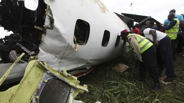 Lagos plane crash leaves up to 16 dead