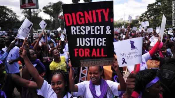Nairobi protests after women stripped