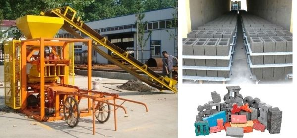 Automatic block/brick making machine VB4-26 for sale