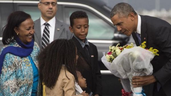 Obama arrives in Addis Ababa