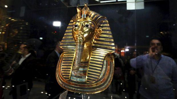 King Tutankhamun's mask back on display