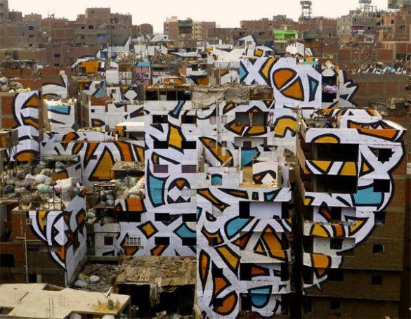 Cairo mural covers 50 buildings