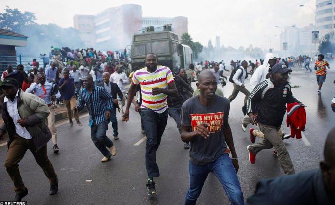 Nairobi electoral protest turns violent