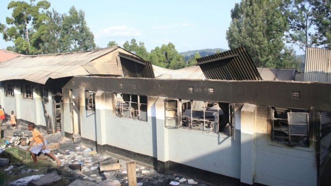 Arson attacks in Kenyan schools