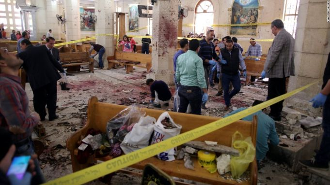 Dozens killed in Egypt church bombings