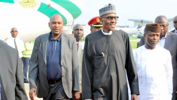 Nigerian president returns to Nigeria