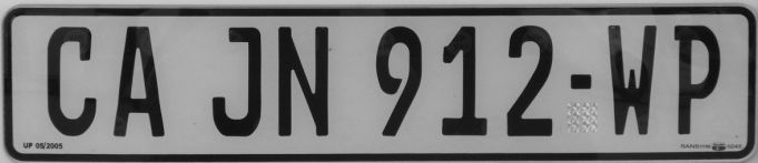 New number plates for Cape Town