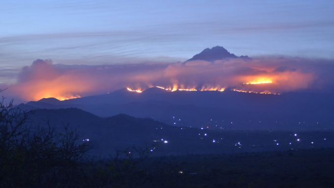 Tanzania fights to put out fires on the slopes of Mount Kilimanjaro