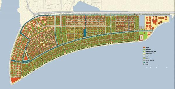 Satellite photo of Eko Atlantic in Lagos - image 3