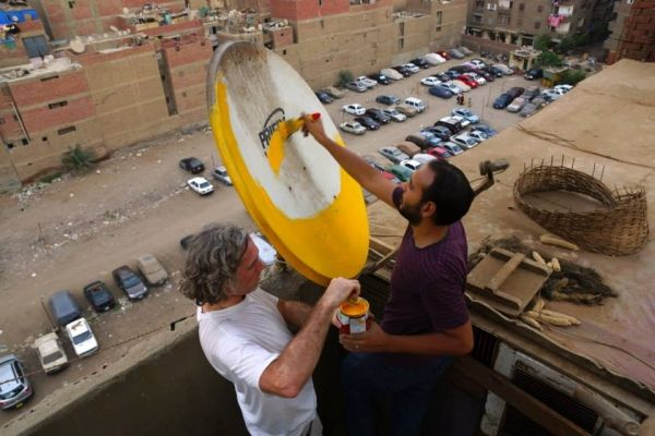 Cairo's painted satellite dishes - image 4