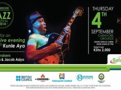 Kunle Ayo for Safaricom jazz festival