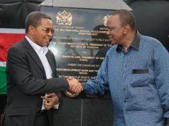 Tanzanian president Jakaya Kikwete on official visit to Kenya