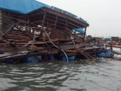 Landmark floating school in Lagos collapses