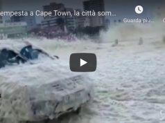 Cape Town covered in sea foam