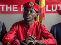 Uganda 'pop' sensation turned MP Bobi Wine arrested during an office raid