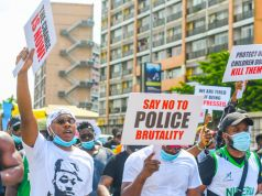 Nigeria protests over police brutality in the SARS police unit