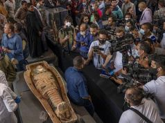Egypt publicly displays dozens of mummy coffins dating thousands of years