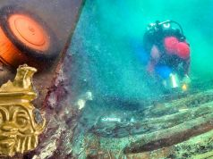 Ancient ship and burial grounds found in submerged city.