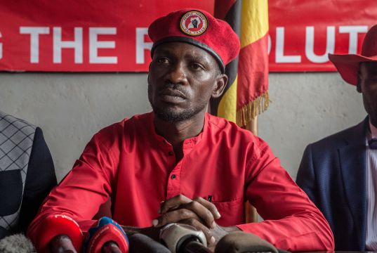Uganda 'pop' sensation turned MP Bobi Wine arrested during an office raid
