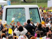 Pope visit in Bresso Airport (Milan)