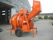Diesel concrete mixer with hydraulic tipping hopper for sale