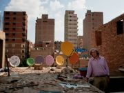 Cairo's painted satellite dishes
