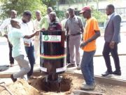Accra installs rubbish bins