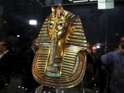 King Tutankhamun's mask back on display