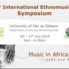Ethnomusic symposium Dar es Salaam